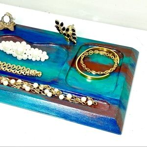 Painted Vanity Tray / Trinket Dish / Valet Tray